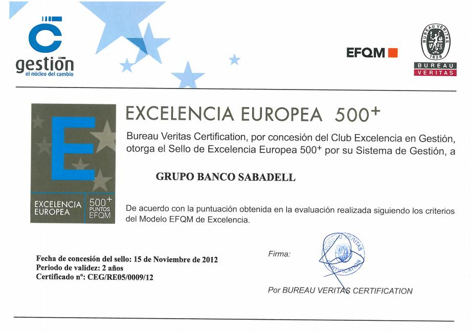 European Gold Seal of Excellence